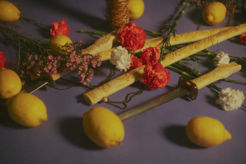 bodegon limones y katanas lacomother alejandra amere