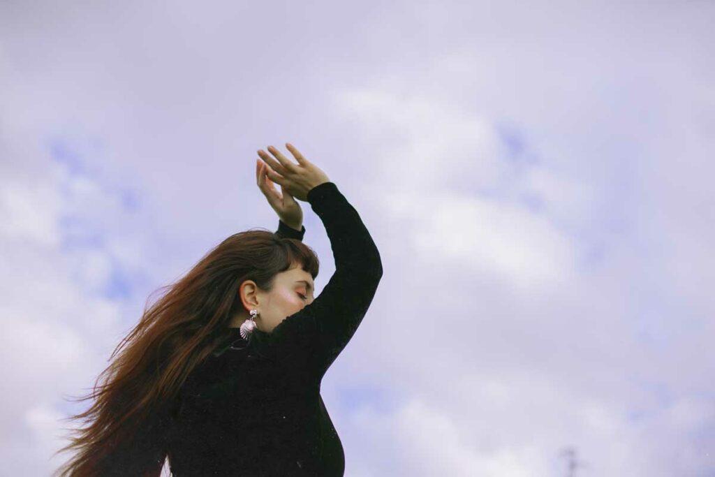 cielo y nubes sesión editorial Virginia Gascon